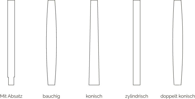 Formen der Rundstützen